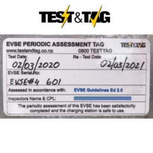 EVSE Annual Safety Inspection Label